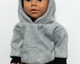 18 inch boy doll clothes boy doll hoodie jeans for boy doll American boy doll hooded sweatshirt