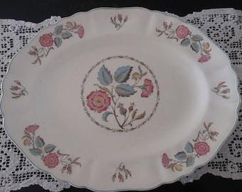 J G Meakin Platter Sunshine Floral Ceramic Dishes Oval Platters Vintage Dinnerware Cottage Chic DecorYourFineHouse