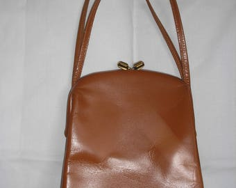 Leather bag Vintage 1940 - 1950S STYLE Purse Free shipping
