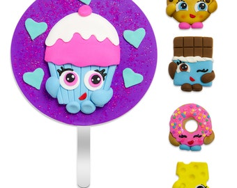 Fondant Cake Toppers Set: Inspired in Shopkins