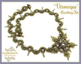 """Only Beads Kit :""""Véronique"""" Necklace in English D.I.Y."""