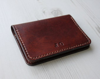 Leather card holder etsy personalised leather card holder leather card wallet minimalist card holder gifts for him colourmoves