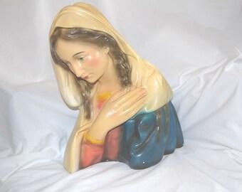 Attractive French Madonna Statue, Plaster #6906