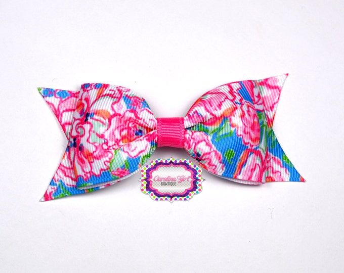 "Lucky Charm Bow  ~ 3.5"" Hairbow ~ Lilly Inspired ~ Small Hair Bow ~ Girls Barrette ~ Toddler Bow ~ Hair Clip ~ Girls Hair Bow"
