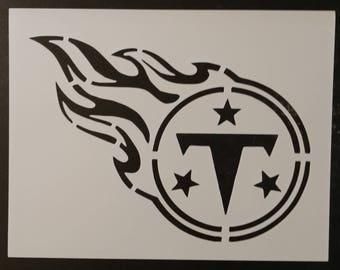 Tennessee Titans Custom Stencil FAST FREE SHIPPING