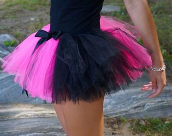Pink & Black Teen or Adult Tutu / Rave Tutu