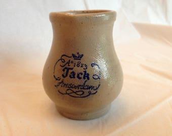 Anno 1813 Jack Amsterdam Stoneware Crock Creamer