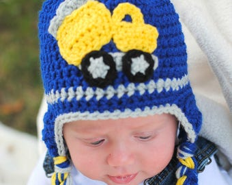Construction Hat made to order in sizes newborn to adult