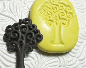SWIRL TREE Mold Flexible Silicone Rubber Push Mold for Resin Wax Fondant Clay Ice 601