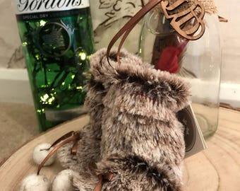 Christmas Tree Decoration, Fur Booties