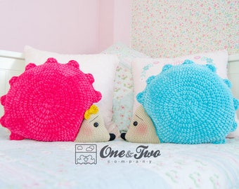Pixie the Hedgehog Pillow - PDF Crochet Pattern - Instant Download - Animal Cushion Crochet Nursery Baby Shower decor