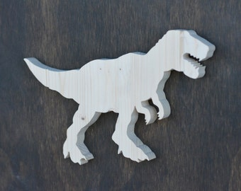 Tyrannosaurus Rex Dinosaur Wood Cutout