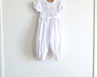 Vintage White Smocked Outfit