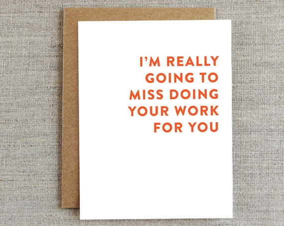 funny coworker card card for coworker goodbye card work