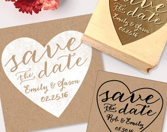 Save the Date Stamp,  Heart Stamp, DIY Save The Date, Create Your Own Save The Dates, Wedding Stamp, Custom Save The Date Stamp, DIY Wedding