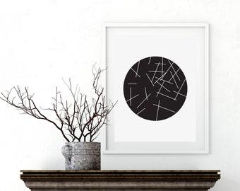 Minimalist Art, Geometric Prints, print black and white, Contemporary Art, black and white prints, wall print