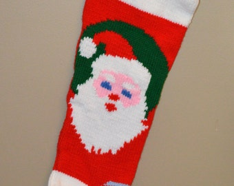 SALE! Personalized Hand-Knit Christmas Stocking - Originally 65 dollars!