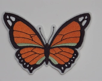 Butterfly Iron-on Patch. Embroidered Patch. Sew-On Patch. Glue-on Patch