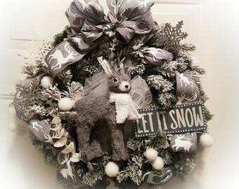 4 Shades of Gray Christmas Wreath!