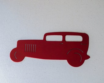 SALE!! Red Hot Rod Art, Blank Pinstripe Panel, Airbrush Panel, Metal Art, rat rod decor