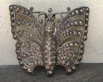 Vintage Metal Butterfly Buckle Large Decorative Butterfly Piece