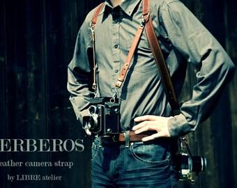 Leather Multi-Camera Strap KERBEROS