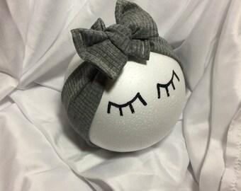 Head wrap bow - Gray