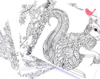 Set of 15 handmade colour yourself envelopes