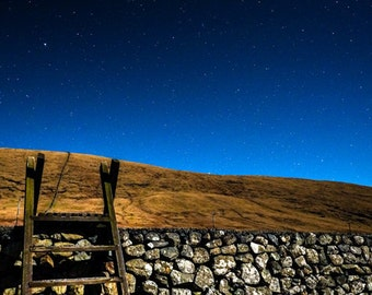 Mourne Wall Steps, Mourne Mountains, Star Photography, Astrophotography