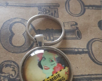 25mm Zombie Pinup Keychain