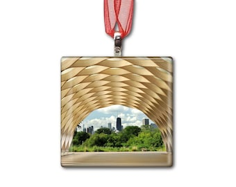 Honeycomb in Lincoln Park Zoo - Handmade Glass Photo Ornament