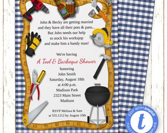 Handyman Invitation | Bridal Shower | Printable Editable Digital PDF File | Templett | WSI239DIY