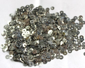 100 Round Silver Color Sequins/100% Metal base/KBMS560