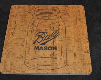 Ball mason jar trivet hot pad