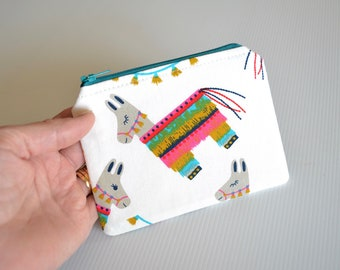 Llama gift, zipper pouch, small gadget bag, coin purse