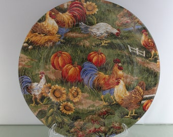 Decorative Thanksgiving Rooster Plate