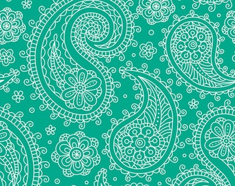 12 x 12 Inch Turqoise Paisley Craft Vinyl Sheet, Permanent Adhesive 3-5 Year Outdoor Lilly vinyl, Lilly vinyl sheet