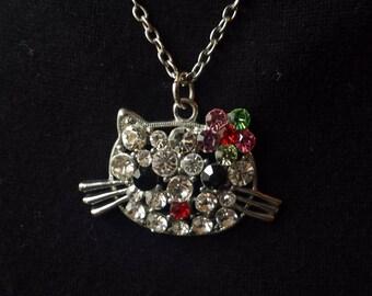 Kitty Head Pendant