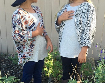 INSTANT DOWNLOAD- Simple Shrug (Sizes 2 to 10) PDF Sewing Pattern and Tutorial