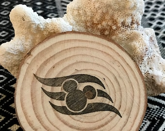 Disney Cruise Magnet, Wood, DCL Logo, Gift, Disney Fish Extender, Mickey, Handmade Vacation Souvenir