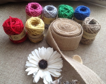 colored hemp twine
