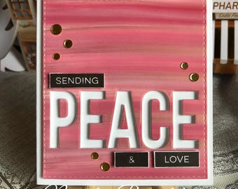 Peace Alcohol Ink Card