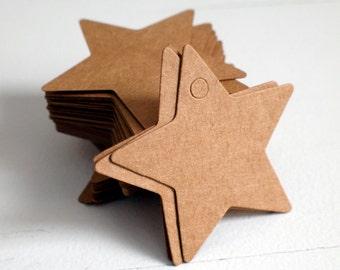 Star tags - brown kraft paper