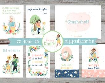 Wear Map wear milestone cards, photo cards, babywearingcards, milestonecards