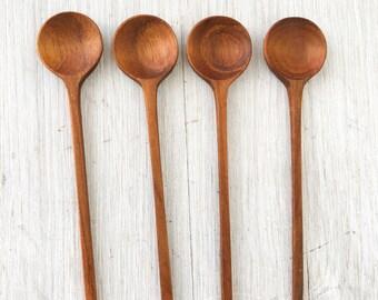 Modern Small Spoon,teak spoon,wooden spoon,salt spoon,wood spoons,Thailand spoons, Thai spoon, teak spoon, small spoon, wood spoon, spoon