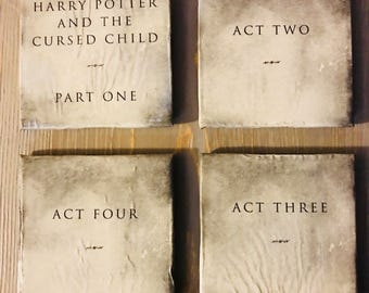 Harry Potter Cursed Child Upcycled Coasters
