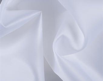 White Silk Satin Organza, Fabric By The Yard