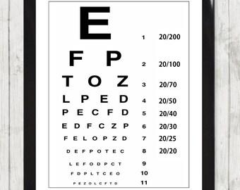 Framed Art Print Eye Test Chart England UK Vision High Resolution Poster Home Decor Gift 138
