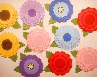 Paper Flowers,Paper Die Cuts, Die Cut Paper,Die Cut Shapes,Scrapbook Die Cuts,Paper Cutouts,Paper Shapes,Die Cut Circles,Scrapbook Kit