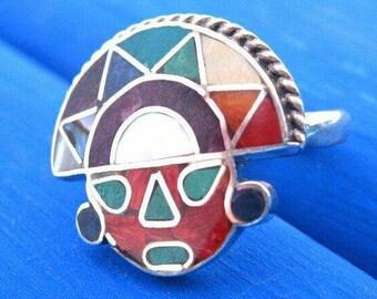 tumi ring peruvian silver ring inca symbol medicine men gift for healer spiritual jewelry for men inca jewelry shaman ring from peru spirit